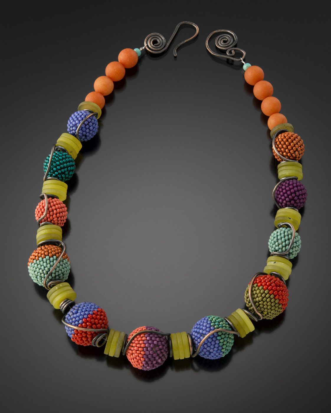 dian silver necklace sterling jewelry signature shop national beads by with malouf designers