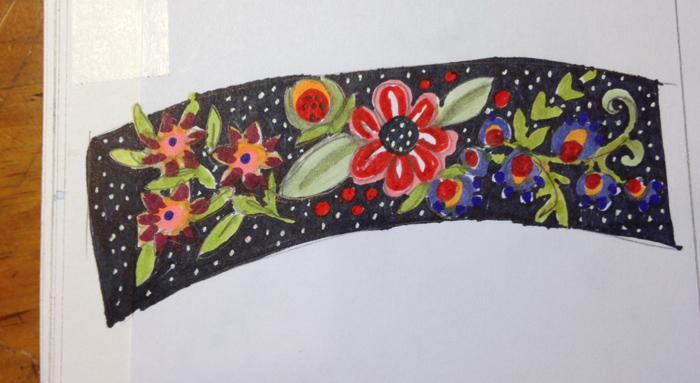 sketch for folk floral cuf web