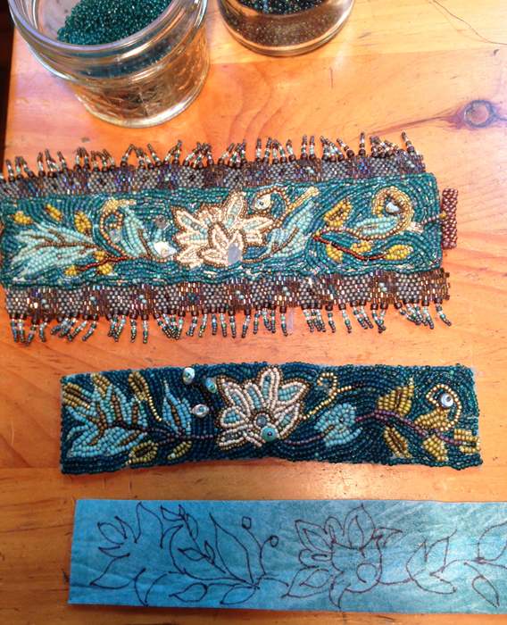 William Morris, Bead-embroidered Cuffs