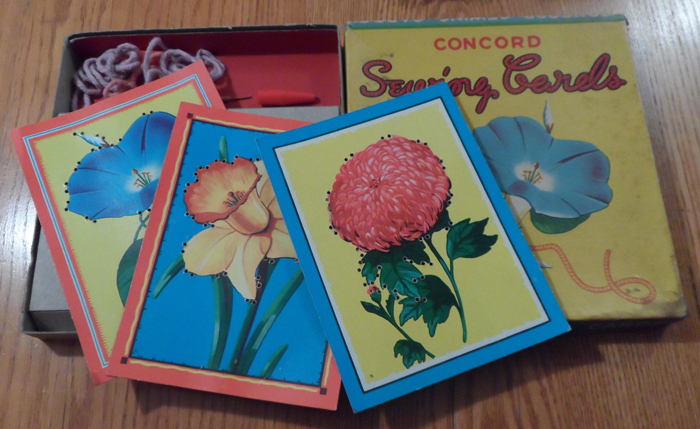 vintage stitching cards web